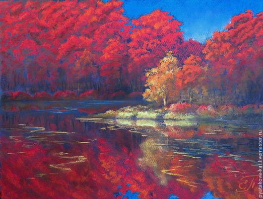 `Осенние брызги солнца`. Картина пастелью Екатерина Пятакова