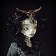 Коллекционные куклы ручной работы. Заказать Дэниела Gothic Steampunk шарнирная кукла. Инна Павлова. Ярмарка Мастеров. Белый, шарнир