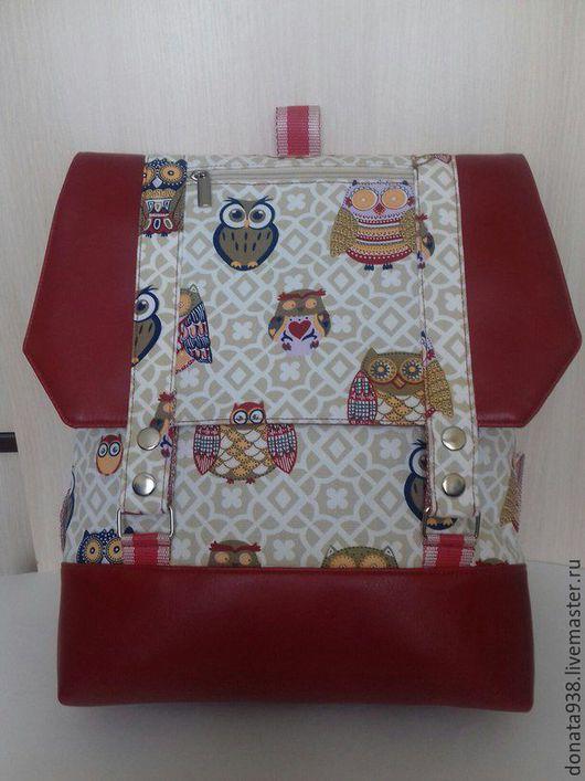"""Рюкзаки ручной работы. Ярмарка Мастеров - ручная работа. Купить рюкзак """" Сова"""". Handmade. Комбинированный, оригинальный рюкзак, кожзам"""