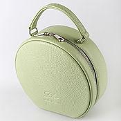 Сумки и аксессуары handmade. Livemaster - original item Crossbody bag: Leather round shoulder bag. Handmade.