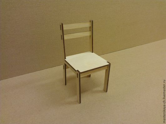 Кукольный стул в масштабе 1:6