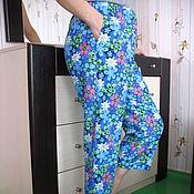 Одежда ручной работы. Ярмарка Мастеров - ручная работа Домашние женские штанишки купить из фланели теплые. Handmade.