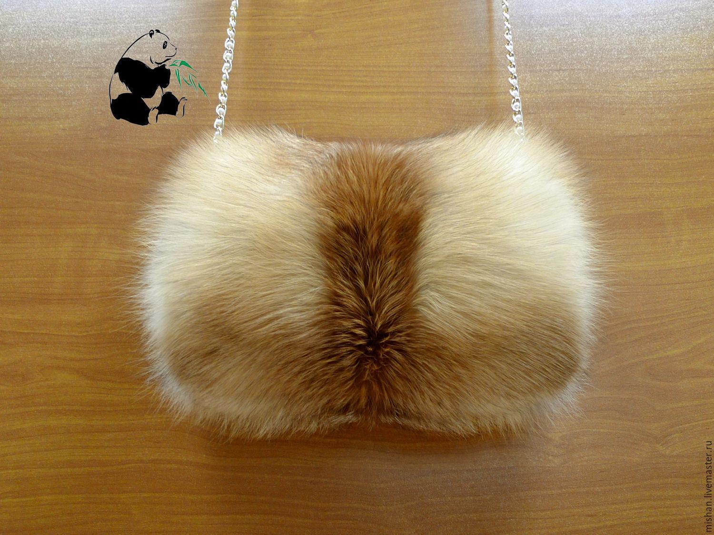 Варежки, митенки, перчатки ручной работы. Ярмарка Мастеров - ручная работа. Купить Меховая муфта - сумка из меха рыжей лисы. Модный  дамский аксессуар. Handmade.