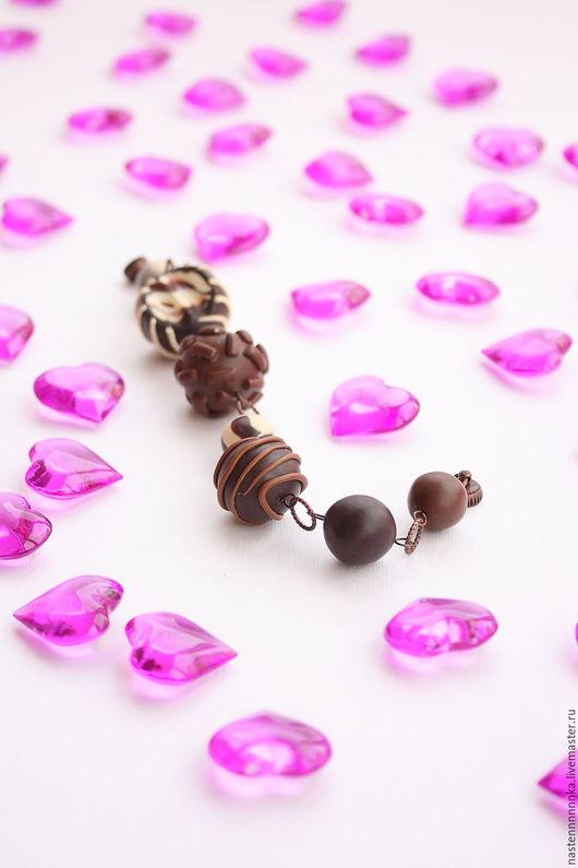 """Браслеты ручной работы. Ярмарка Мастеров - ручная работа. Купить Браслет """"Вся в шоколаде"""". Handmade. Коричневый, Бижутерия, подарок на рождество"""