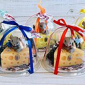 Мыло ручной работы. Ярмарка Мастеров - ручная работа Мыло: Мышка на сыре. Handmade.