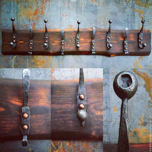 Прихожая ручной работы. Ярмарка Мастеров - ручная работа. Купить Кованая вешалка для прихожей. Handmade. Ковка, медь, вешалка, сталь