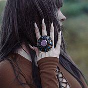Украшения handmade. Livemaster - original item Ring with purple enamel. Handmade.