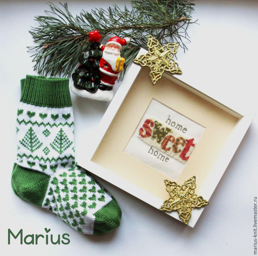 вязаные носки, вязаные носки купить, носки женские, носки с орнаментом, новогодние носки, носки шерстяные, носки теплые, праздничные носки