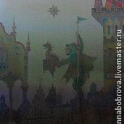 """Аксессуары ручной работы. Ярмарка Мастеров - ручная работа Шарф из серии """"Драконы над городом""""   """"Это не Вы потеряли?"""". Handmade."""