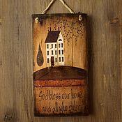 """Картины и панно ручной работы. Ярмарка Мастеров - ручная работа Панно """"Домик"""". Handmade."""