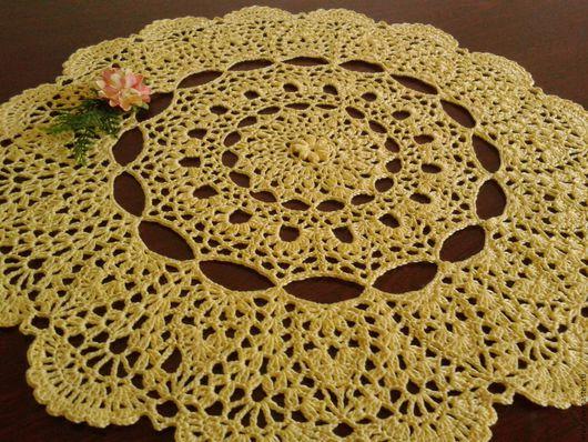 Текстиль, ковры ручной работы. Ярмарка Мастеров - ручная работа. Купить Салфетка. Handmade. Желтый, салфетка