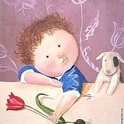 Картины и панно handmade. Livemaster - original item Painting the nursery bright and cute oil painting on canvas. Handmade.