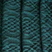 """Аксессуары ручной работы. Ярмарка Мастеров - ручная работа Широкий длинный шарф """"Изумрудный раджа"""". Handmade."""