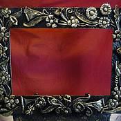 """Сувениры и подарки ручной работы. Ярмарка Мастеров - ручная работа кованая рамка"""" Полевые цветы"""" для фото. Handmade."""