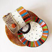 """Посуда ручной работы. Ярмарка Мастеров - ручная работа Керамический набор""""Pozitiff"""". Handmade."""
