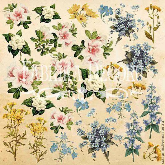 """Открытки и скрапбукинг ручной работы. Ярмарка Мастеров - ручная работа. Купить Лист для вырезания """"Botany summer"""", 30,5 Х 30,5 см,. Handmade."""