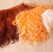 Материалы для творчества handmade. Livemaster - original item Set tress and skins of Lot No. 3 hair pieces mohair and skins of goats. Handmade.