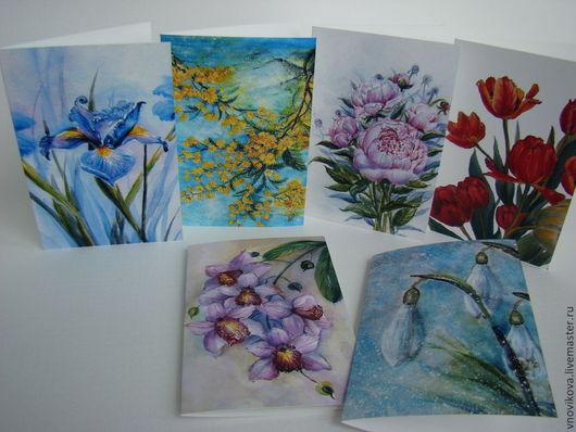 """Открытки для женщин, ручной работы. Ярмарка Мастеров - ручная работа. Купить набор  поздравительных открыток """" Энергия весны """". Handmade."""