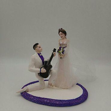 """Свадебный салон ручной работы. Ярмарка Мастеров - ручная работа Фигурки на свадебный торт """"Ода невесте"""", свадебные фигурки. Handmade."""