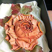 """Украшения ручной работы. Ярмарка Мастеров - ручная работа Роза из кожи """"Винтажная - 2"""". Handmade."""