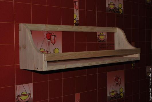 Декупаж и роспись ручной работы. Ярмарка Мастеров - ручная работа. Купить Полка для кухни большая. Handmade. Бежевый, полочка