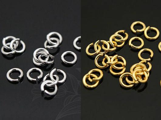 Соединительные колечки из латуни с глянцевой позолотой или родиевым покрытием, 2 мм, 10 шт. Фурнитура для украшений из Южной Кореи.
