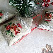 Сувениры и подарки handmade. Livemaster - original item Christmas, textile, toys handmade cross-stitch. Handmade.