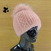 Аксессуары handmade. Livemaster - original item Youth women`s beanie fur Finnish mink. Art.DF-40. Handmade.