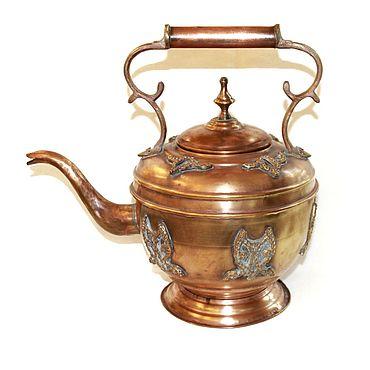Посуда ручной работы. Ярмарка Мастеров - ручная работа Чайник медный антикварный. Handmade.