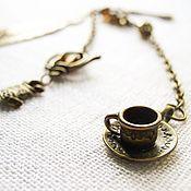 """Канцелярские товары ручной работы. Ярмарка Мастеров - ручная работа Закладка """"Безумное чаепитие"""". Handmade."""