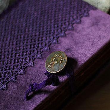 """Канцелярские товары ручной работы. Ярмарка Мастеров - ручная работа Книга ручной работы """"Фиолетовый вечер"""". Handmade."""