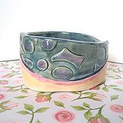 Для домашних животных, ручной работы. Ярмарка Мастеров - ручная работа Мисочка  - керамика ручной работы - Акварельная. Handmade.