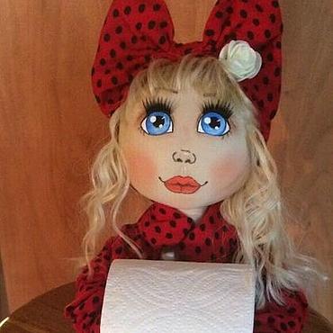 """Для дома и интерьера ручной работы. Ярмарка Мастеров - ручная работа Кукла-держатель туалетной бум., полотенец, ватных палочек..""""Аннушка"""". Handmade."""