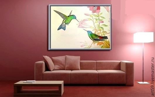 """Животные ручной работы. Ярмарка Мастеров - ручная работа. Купить картина """" Яркие птицы """". Handmade. Птицы, птички"""
