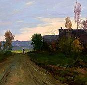 Картины и панно handmade. Livemaster - original item Gorgeous art work using oil on the theme of summer autumn day in Wengen.. Handmade.