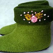 """Обувь ручной работы. Ярмарка Мастеров - ручная работа Валеночки домашние."""" Весна идет"""". Handmade."""