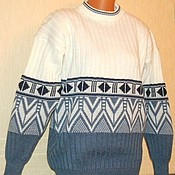 Sweaters handmade. Livemaster - original item Knitted sweater with ornament. Handmade.