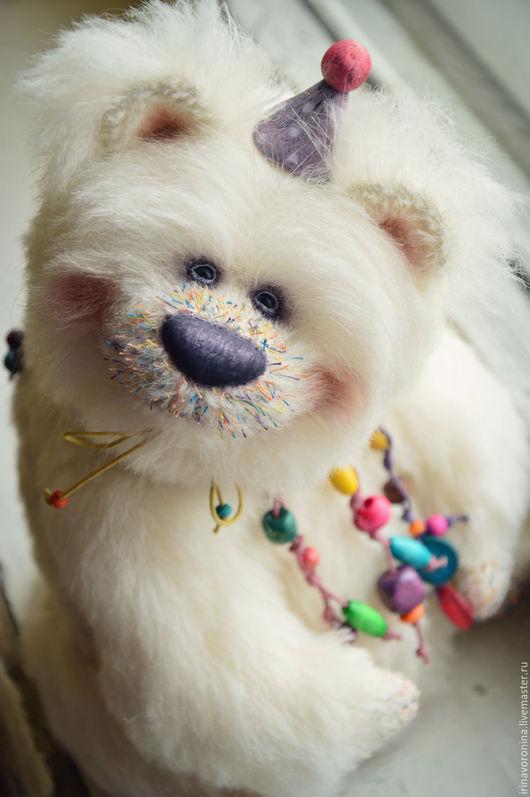 Мишки Тедди ручной работы. Ярмарка Мастеров - ручная работа. Купить Фейерверк...Коллекционный медведь тедди. Handmade. Белый