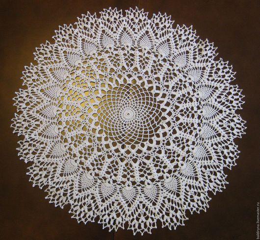 Текстиль, ковры ручной работы. Ярмарка Мастеров - ручная работа. Купить Салфетка крючком круглая большая ажурная Ананас. Handmade.