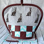 Для дома и интерьера ручной работы. Ярмарка Мастеров - ручная работа Грелка для чайника и подставка для горячего. Handmade.