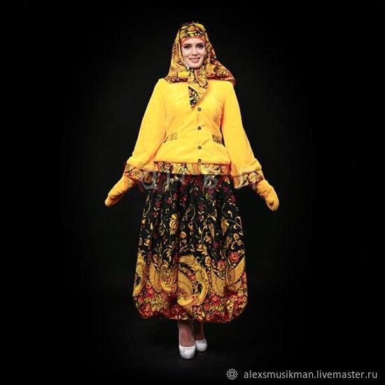 """Русский народный костюм """"Масленица"""" желтый жакет, Народные костюмы, Москва,  Фото №1"""