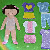 Куклы и игрушки ручной работы. Ярмарка Мастеров - ручная работа Одень куклу (на липучках). Handmade.