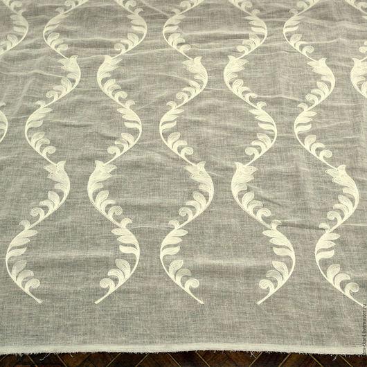 Ткань шторная под лен цвет сливочный. Ширина ткани (высота) составляет - 280 см Цвет ткани - сливочный. Низ ткани.