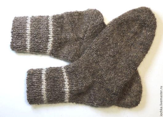Носки, Чулки ручной работы. Ярмарка Мастеров - ручная работа. Купить Носки из собачьей шерсти 3. Handmade. Темно-серый