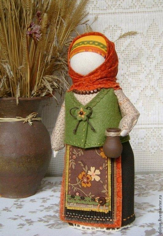 """Народные куклы ручной работы. Ярмарка Мастеров - ручная работа. Купить кукла Берегиня дома """"Осенняя"""". Handmade. Оранжевый, домовушка"""