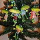 """Новый год 2017 ручной работы. Ярмарка Мастеров - ручная работа. Купить """"Лягушата"""" Елочные игрушки из папье-маше. Handmade. Лягушки"""