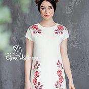 "Одежда handmade. Livemaster - original item Платье валяное ""Розы. Коханна"". Handmade."