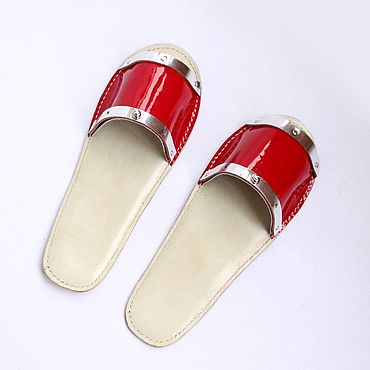Обувь ручной работы. Ярмарка Мастеров - ручная работа Тапочки кожаные ручной работы . В наличии и под заказ .. Handmade.