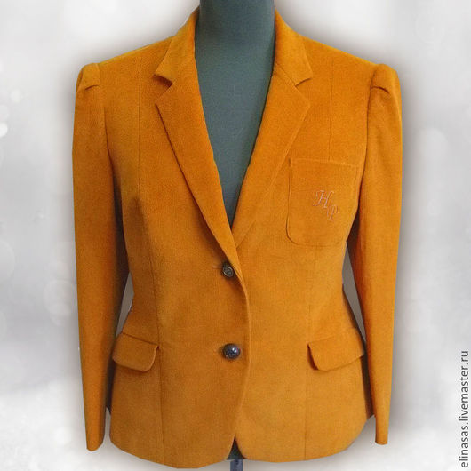 Пиджаки, жакеты ручной работы. Ярмарка Мастеров - ручная работа. Купить Жакет велюровый. Handmade. Оранжевый, пиджак