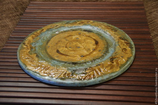 Блюдо `Осень`. Авторская посуда ручной работы. Sвеtlaна... Ярмарка мастеров.